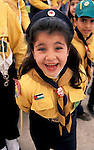 Bethlehem, a Palestinian girl scout at the Christmas procession at Manger Square&#xA;<br />