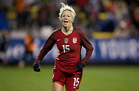 Columbus, Ohio - Thursday March 01, 2018: Megan Rapinoe celebrates her goal during a 2018 SheBelieves Cup match between the women's national teams of the United States (USA) and Germany (GER) at MAPFRE Stadium.