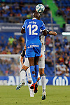 Allan-Romeo Nyom of Getafe CF during La Liga match between Getafe CF and Deportivo Alaves at Colisseum Alfonso Perez in Getafe, Spain. August 31, 2019. (ALTERPHOTOS/A. Perez Meca)
