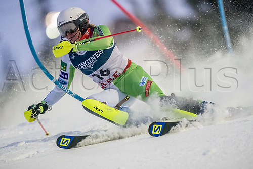 8th February 2019, Are, Sweden; Alpine skiing: Combination, ladies: Marusa Ferk from Slovenia on the slalom course.