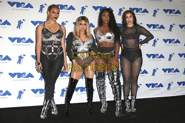 INGLEWOOD, CA - AUGUST 27: Fifth Harmony in the press room at the 2017 MTV Video Music Awards At The Forum in Inglewood, California on August 27, 2017. <br /> CAP/MPI/FS<br /> &copy;FS/MPI/Capital Pictures