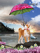 PAUL,REALISTIC ANIMALS, REALISTISCHE TIERE, ANIMALES REALISTICOS, paintings+++++NW_Umbrella-Dog-D,USLGNW16,#a#, EVERYDAY ,funny photos