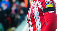 Lincoln City wore black armbands in memory of Ian Whyte (former Lincoln City youth team coach) and Emiliano Sala<br /> <br /> Photographer Chris Vaughan/CameraSport<br /> <br /> The EFL Sky Bet League Two - Lincoln City v Northampton Town - Saturday 9th February 2019 - Sincil Bank - Lincoln<br /> <br /> World Copyright &copy; 2019 CameraSport. All rights reserved. 43 Linden Ave. Countesthorpe. Leicester. England. LE8 5PG - Tel: +44 (0) 116 277 4147 - admin@camerasport.com - www.camerasport.com
