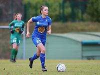 20191221 - WOLUWE: Gent's Romy Camps in action during the Belgian Women's National Division 1 match between FC Femina WS Woluwe A and KAA Gent B on 21st December 2019 at State Fallon, Woluwe, Belgium. PHOTO: SPORTPIX.BE | SEVIL OKTEM