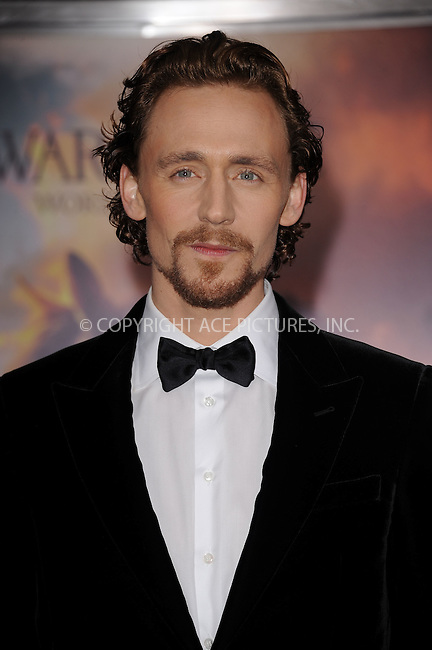 WWW.ACEPIXS.COM . . . . . .December 4, 2011...New York City....Actor Tom Hiddleston attends the 'War Horse' world premiere at Avery Fisher Hall at Lincoln Center for the Performing Arts on December 4, 2011 in New York City. December 4, 2011 in New York City.....Please byline: KRISTIN CALLAHAN - ACEPIXS.COM.. . . . . . ..Ace Pictures, Inc: ..tel: (212) 243 8787 or (646) 769 0430..e-mail: info@acepixs.com..web: http://www.acepixs.com .