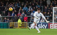 Goalkeeper Matt Ingram of Wycombe Wanderers during the Sky Bet League 2 match between Wycombe Wanderers and Oxford United at Adams Park, High Wycombe, England on 19 December 2015. Photo by Andy Rowland.