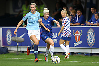 Gemma Bonner of Manchester City Women and Beth England of Chelsea Ladies  during Chelsea Women vs Manchester City Women, FA Women's Super League FA WSL1 Football at Kingsmeadow on 9th September 2018