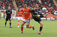 Bradford City's Josh Wright and Blackpool's Jordan Thompson<br /> <br /> Photographer Rachel Holborn/CameraSport<br /> <br /> The EFL Sky Bet League One - Blackpool v Bradford City - Saturday September 8th 2018 - Bloomfield Road - Blackpool<br /> <br /> World Copyright &copy; 2018 CameraSport. All rights reserved. 43 Linden Ave. Countesthorpe. Leicester. England. LE8 5PG - Tel: +44 (0) 116 277 4147 - admin@camerasport.com - www.camerasport.com