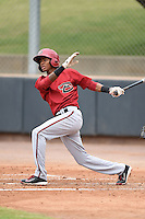 Arizona Diamondbacks shortstop Sergio Alcantara (1) during an Instructional League game against the Colorado Rockies on October 8, 2014 at Salt River Fields at Talking Stick in Scottsdale, Arizona.  (Mike Janes/Four Seam Images)