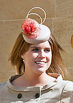 16.04.2017; Windsor,UK: ROYAL LADIES EASTER BONNET - PRINCESS EUGENIE<br /> Members of the Royal Family attended an Easter Service at St George's Chapel, Windsor Castle.<br /> Mandatory Photo Credit: &copy;Francis Dias/NEWSPIX INTERNATIONAL<br /> <br /> IMMEDIATE CONFIRMATION OF USAGE REQUIRED:<br /> Newspix International, 31 Chinnery Hill, Bishop's Stortford, ENGLAND CM23 3PS<br /> Tel:+441279 324672  ; Fax: +441279656877<br /> Mobile:  07775681153<br /> e-mail: info@newspixinternational.co.uk<br /> Usage Implies Acceptance of OUr Terms &amp; Conditions<br /> Please refer to usage terms. All Fees Payable To Newspix International
