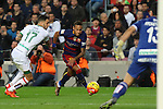 09.01.2016 Camp Nou, Barcelona, Spain. La Liga day 19 march between FC Barcelona and Granada. Neymar takes a shot on goal
