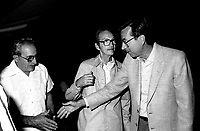 August 23, 1985 File Photo - Robert Bourassa, Premier, Quebec attend an activity of the Quebec Liberal Party's Lachine section