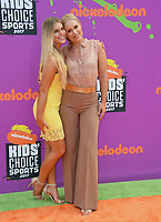 Lindsey Vonn &amp; Karin Kildow at Nickelodeon's Kids' Choice Sports 2017 at UCLA's Pauley Pavilion. Los Angeles, USA 13 July  2017<br /> Picture: Paul Smith/Featureflash/SilverHub 0208 004 5359 sales@silverhubmedia.com