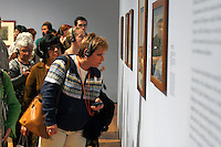 Lynn Malkoff, of Connecticut, views a gallery during the pubic opening of Louvre Atlanta at the High Museum of Art. Over the next three years, the High Museum will feature hundreds of works of art from the Musée du Louvre in Paris.