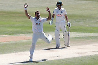 Neil Wagner of Essex celebrates taking the wicket of Riki Wessels during Essex CCC vs Nottinghamshire CCC, Specsavers County Championship Division 1 Cricket at The Cloudfm County Ground on 22nd June 2018