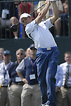 European Team player Sergio Garcia tees off on the 1st tee during the opening match of the Singles on the Final Day of the Ryder Cup at Valhalla Golf Club, Louisville, Kentucky, USA, 21st September 2008 (Photo by Eoin Clarke/GOLFFILE