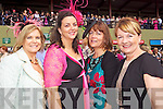 Mary O'Riordan, Evelyn Finnegan, Breda Baily and Betty Healy Killarney pictured at Killarney Races Ladies day on Thursday.