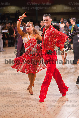 Salvatore Caruso and Concetta Cultrera from Italy perform their dance during the amateur rising stars latin-american competition of the UK Open Dance Championships held in Bournemouth International Centre. Organized by Dance News Special Events Ltd in Bournemouth, Great Britain on January 20, 2009. ATTILA VOLGYI
