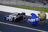 Jun. 16, 2012; Bristol, TN, USA: NHRA funny car driver Matt Hagan during qualifying for the Thunder Valley Nationals at Bristol Dragway. Mandatory Credit: Mark J. Rebilas-