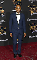 www.acepixs.com<br /> <br /> March 2 2017, LA<br /> <br /> John Legend arriving at the premiere of Disney's 'Beauty And The Beast' at the El Capitan Theatre on March 2, 2017 in Los Angeles, California.<br /> <br /> By Line: Famous/ACE Pictures<br /> <br /> <br /> ACE Pictures Inc<br /> Tel: 6467670430<br /> Email: info@acepixs.com<br /> www.acepixs.com