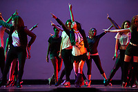 Photo from Occidental College Dance Production 2012 dress rehearsal,  Thursday, March 22, 2012 in Thorne Hall. One of Oxy's oldest traditions, Dance Production features student dancers performing student choreography in styles ranging from belly dancing to hip hop to jazz to dancehall. (Photo by Marc Campos, Occidental College Photographer)