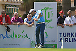 Rafa Echenique (ARG) tees off on the 10th tee to start his round during Day 1 Thursday of the Open de Andalucia de Golf at Parador Golf Club Malaga 24th March 2011. (Photo Eoin Clarke/Golffile 2011)