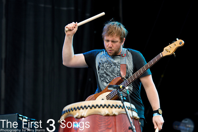 Ben McKee of Imagine Dragons performs during the 2013 Budweiser Made in America Festival in Philadelphia, Pennsylvania.