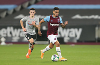West Ham United's Manuel Lanzini<br /> <br /> Photographer Rob Newell/CameraSport<br /> <br /> Carabao Cup Second Round Northern Section - West Ham United v Charlton Athletic - Tuesday 15th September 2020 - London Stadium - London <br />  <br /> World Copyright © 2020 CameraSport. All rights reserved. 43 Linden Ave. Countesthorpe. Leicester. England. LE8 5PG - Tel: +44 (0) 116 277 4147 - admin@camerasport.com - www.camerasport.com
