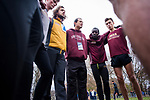 LOUISVILLE, KY - NOVEMBER 18: Iona College head coach Ricardo Santos speaks with his team before the Division I Men's Cross Country Championship held at E.P. Tom Sawyer Park on November 18, 2017 in Louisville, Kentucky. (Photo by Tim Nwachukwu/NCAA Photos via Getty Images)