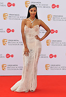 Maya Jama at the British Academy (BAFTA) Television Awards 2019, Royal Festival Hall, Southbank Centre, Belvedere Road, London, England, UK, on Sunday 12th May 2019.<br /> CAP/CAN<br /> &copy;CAN/Capital Pictures