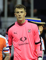 Luton Town's new goalkeeper, Matt Macey, on loan from Arsenal, during the The Checkatrade Trophy match between Luton Town and Yeovil Town at Kenilworth Road, Luton, England on 7 February 2017. Photo by Liam Smith / PRiME Media Images