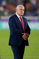 27th October 2019, Oita, Japan;  Wales head coach Warren Gatland during the 2019 Rugby World Cup semi-final match between Wales and South Africa at International Stadium Yokohama in Kanagawa, Japan on October 27, 2019.  - Editorial Use