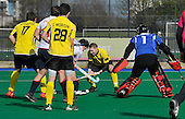 Hockey - Scottish Cup semi-finals at Peffermill - Edinburgh - Kelburne V Western Wildcats - Kelburne midfielder Michael Christie in the Western D on his way to scoring 2 goals in his sides 4-0 victory - Picture by Donald MacLeod  1.4.12  07702 319 738  clanmacleod@btinternet.com