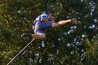 FIERLJEPPEN: IT HEIDENSKIP: 11-07-2018, Thewis Hobma wint met 20.90m (PR), ©foto Martin de Jong