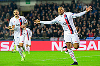 Kylian Mbappe forward of PSG celebrates scoring a goal  <br /> Bruges 22-10-2019 <br /> Club Brugge - Paris Saint Germain PSG <br /> Champions League 2019/2020<br /> Foto Panoramic / Insidefoto <br /> Italy Only