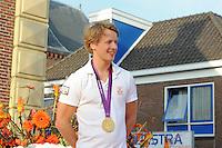 TURNEN: LEMMER: centrum Lemmer, 17-08-2012, Huldiging Olympisch kampioen, Epke Zonderland met z'n gouden medaille, ©foto Martin de Jong