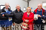 Picture in the Lifeboat Station on Valentia on Saturday for the Lusitania Commeration were l-r; Paddy O'Sullivan, P.J. Lynch, Helen & Tom O'Connor.