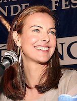 Montreal, 1999-08-30. Carole Bouquet, press conference at Montreal World Film Festival<br /> <br /> Carole Bouquet (born 18 August 1957) is a French actress and fashion model. Bouquet was born in Neuilly-sur-Seine, France.<br /> <br /> She is best known internationally as Bond girl Melina Havelock in the 1981 movie For Your Eyes Only, although she featured in a number of mainstream European films throughout the 1980s and continued to do so up until 2005 in France.<br /> <br /> She is also recognized for her work in Luis Bu&ntilde;uel's surrealist classic That Obscure Object of Desire (1977), and in the internationally successful film Too Beautiful For You (1989).<br /> <br /> Bouquet was a model for Chanel in the 1990s. She is the widow of producer Jean-Pierre Rassam with whom she had a son, Dimitri Rassam. From 1997 to 2005, she dated actor Gerard Depardieu, with whom she had worked several times. Bouquet was engaged to him from 2003 to 2005.