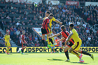 Burnley's Sam Vokes scores his sides first goal  <br /> <br /> Photographer Ian Cook/CameraSport<br /> <br /> The Premier League - Bournemouth v Burnley - Saturday 13th May 2017 - Vitality Stadium - Bournemouth<br /> <br /> World Copyright &copy; 2017 CameraSport. All rights reserved. 43 Linden Ave. Countesthorpe. Leicester. England. LE8 5PG - Tel: +44 (0) 116 277 4147 - admin@camerasport.com - www.camerasport.com