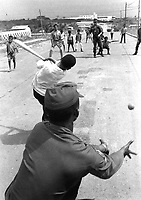 G.I.'s playing baseball with Dominican kids.  Santo Domingo, May 5, 1965.  Jack Lartz.  (USIA)<br /> NARA FILE #:  306-PSC-65-2011<br /> WAR &amp; CONFLICT BOOK #:  380