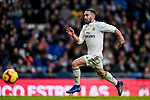 Daniel Carvajal Ramos of Real Madrid runs with the ball during the La Liga 2018-19 match between Real Madrid and Rayo Vallencano at Estadio Santiago Bernabeu on December 15 2018 in Madrid, Spain. Photo by Diego Souto / Power Sport Images