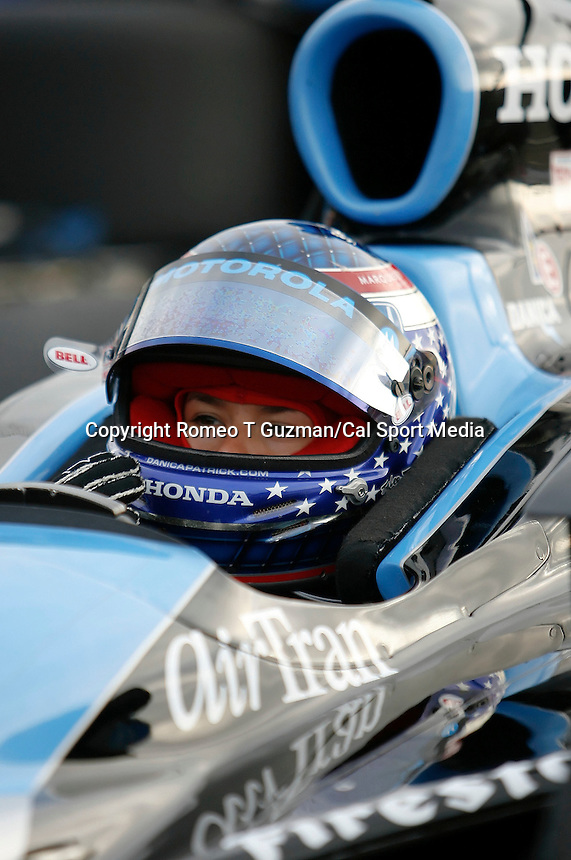 April 5, 2009: Danica Patrick waits for the start of the morning warm ups prior to the running of the IRL IndyCar Series Honda Grand Prix of St.Petersburg on the streets of St. Petersburg, Florida