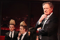 Jedward are pictured with Vincent Browne on his new show, Friday late with Vincent Browne will see Vincent Browne take a break from current affairs and he will take a lighter look topical subjects. It is a topical chat show that will feature some of Ireland 's most interesting characters. The panel will compromise of entrepreneurs, politicians, comedians, musicians, actors and singers.On the very first show Vincent will be joined by JEDWARD Former Eurovision winner Linda Martin, Dragons Den entrepreneur Nora Casey and popular radio presenter - Ray D'Arcy. Current Affairs will take a back seat on Fridays and humour and entertainment will prevail. For something completely different tune into Friday Late for that Friday Feeling. Join Vincent on Friday Late with Vincent Browne each Friday from 11:30 on TV3.<br /> Picture James Horan/Collins