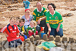 KERRY CASTLE: Building a Kerry football out of the sand at the Ballyheigue Summer Festival on Sunday l-r: Dillon Casey, Daniel Coughin, David and Casey Ryle, Megan Casey Lawlor, Pa and Maire Ryle from Ballyheigue and Ardfert.   Copyright Kerry's Eye 2008