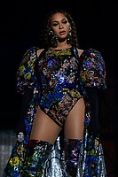 JOHANNESBURG, SOUTH AFRICA - DECEMBER 2:  Beyonce performs during the Global Citizen Festival: Mandela 100 at FNB Stadium on December 2, 2018 in Johannesburg, South Africa. (Photo by Raven Varona/Parkwood/PictureGroup)