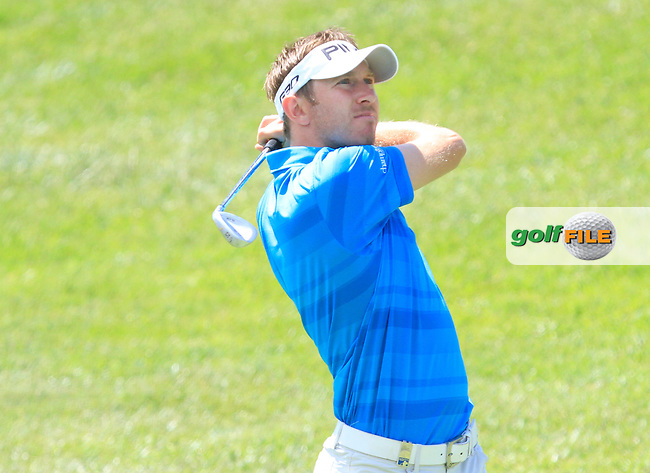 Jason Palmer (ENG) on the 2nd fairway during Round 3 of the Open de Espana  in Club de Golf el Prat, Barcelona on Saturday 16th May 2015.<br /> Picture:  Thos Caffrey / www.golffile.ie