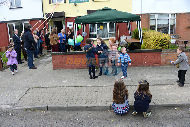 Great excitement at the Connect Family Resource Centre in Moneymore for the launch of the Parenting Tips booklet. Photo: Andy Spearman. www.newsfile.ie www.newsfile.ie