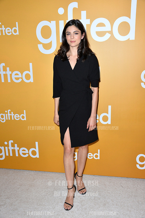 Actress Monica Barbaro at the premiere for &quot;Gifted&quot; at The Grove. Los Angeles, USA 04 April  2017<br /> Picture: Paul Smith/Featureflash/SilverHub 0208 004 5359 sales@silverhubmedia.com
