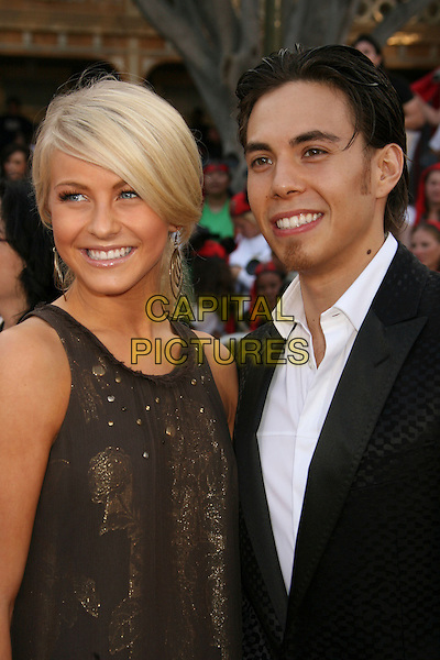 "JULIANNE HOUGH & APOLO ANTON ONO.""Pirates Of The Caribbean: At World's End"" World Premiere held at Disneyland, Anaheim, California, USA,.May 19th, 007.3 half length black suit brown dress goatee facial hair .CAP/ADM/RE.©Russ Elliot/AdMedia/Capital Pictures"