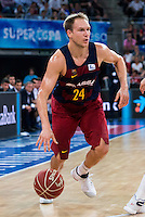 FC Barcelona Lassa's player Brad Oleson during the match of the semifinals of Supercopa of La Liga Endesa Madrid. September 23, Spain. 2016. (ALTERPHOTOS/BorjaB.Hojas)